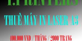 Cho thuê máy in laser màu a3